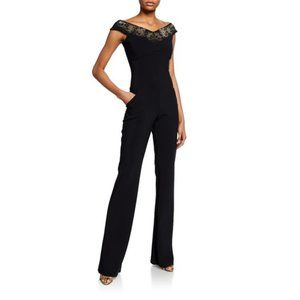 NEW $795 Chiara Boni Eirini Off Shoulder Jumpsuit